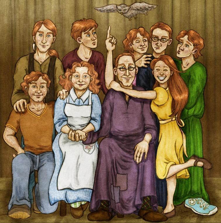 The Weasley Family, Take Two by VanishingShmink on DeviantArt