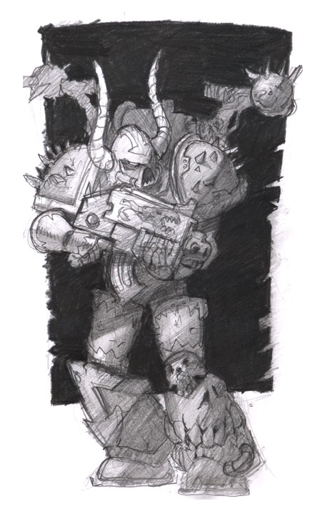 [W40K] Collection d'images : Space Marines du Chaos - Page 2 Chaos_Space_Marine_by_megalaros