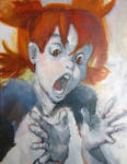 Screaming Yotsuba by megalaros