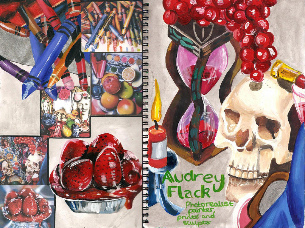the early life and photorealistic art works of audrey flack Photorealism paintings for sale paintings the photorealist paintings art movement of the late 1960s and early 1970s emerged as a audrey flack focused on.