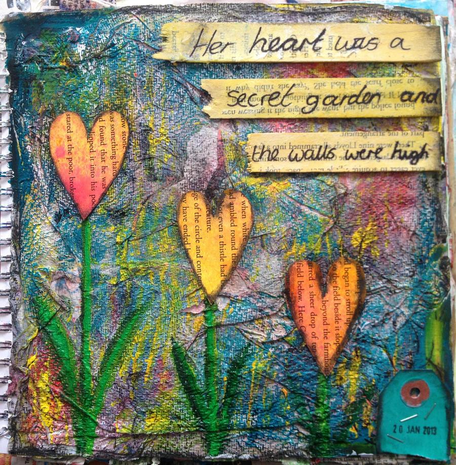 Secret Garden Art Journal Page by ambrabealey on DeviantArt
