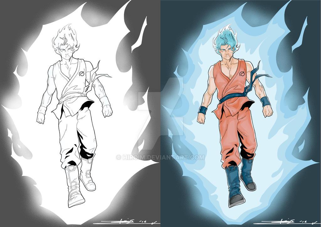 dragon ball super coloring by hiroim