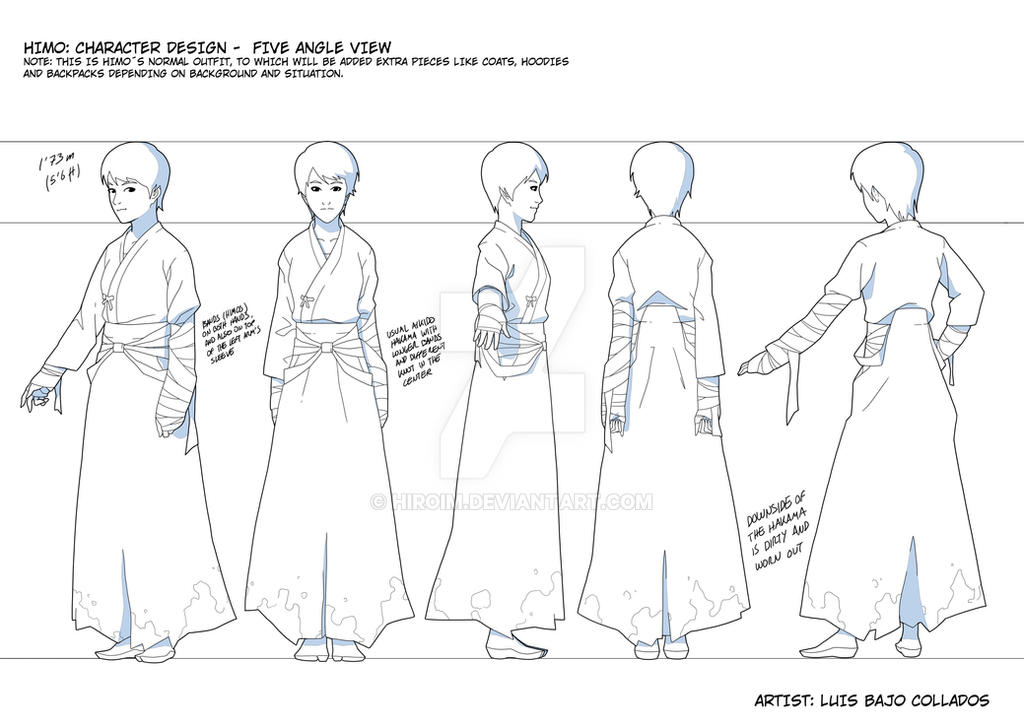 Character design: Five angle view by Hiroim