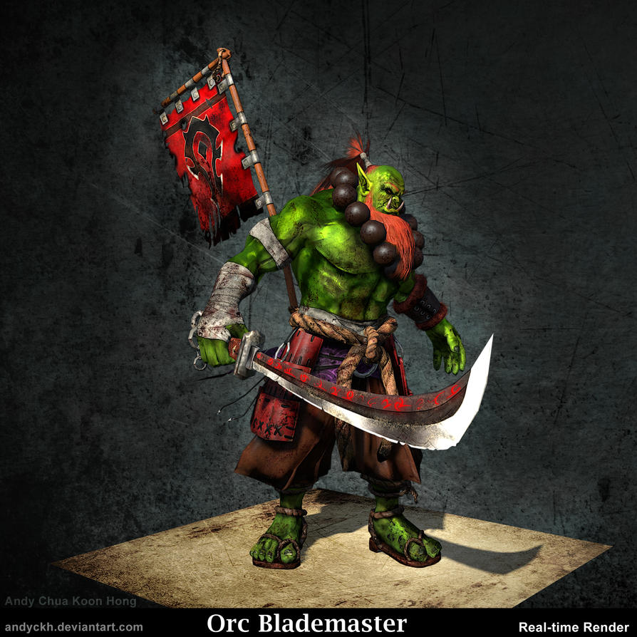 art goro ogoro orc swordmaster dnd