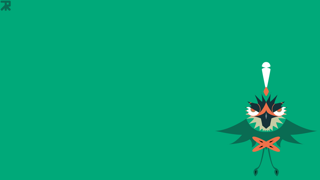 Artsince Everybody Likes Decidueye So Much I Decided To Make A Free To Use Minimalist Wallpaper