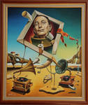 A surreal simulacrum of S.Dali
