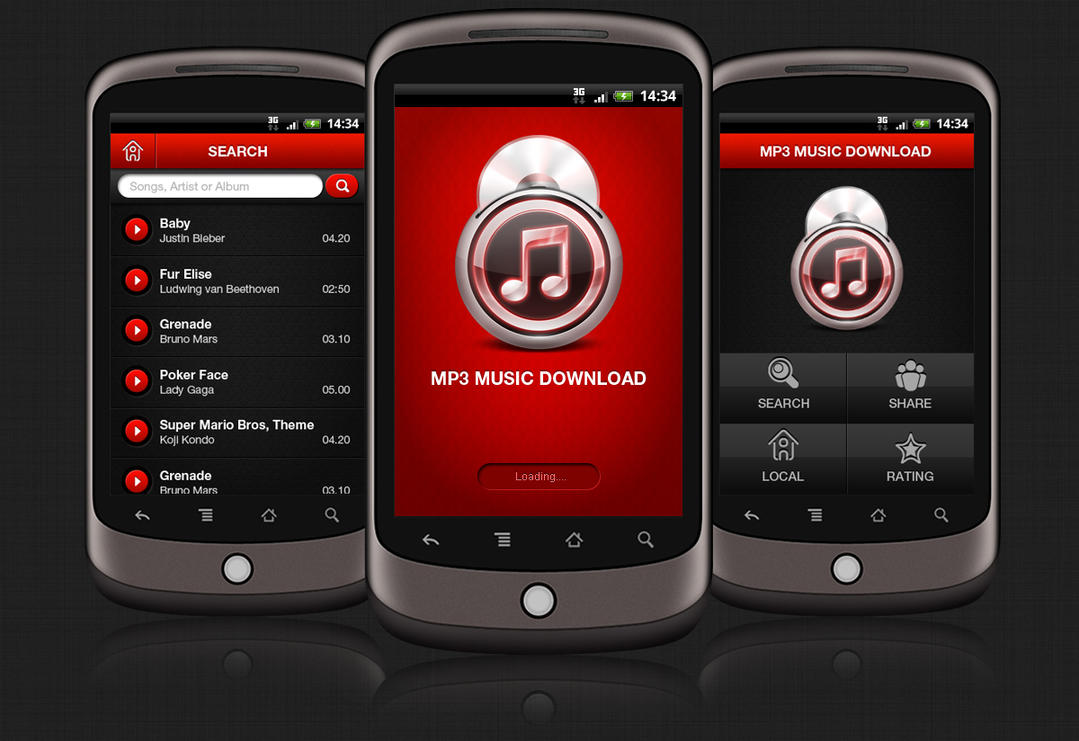 MP3 Music Android App by amitrai10 on DeviantArt