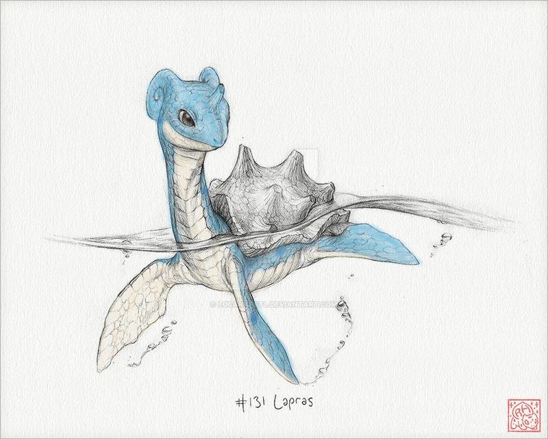 (Read Below) Hand-Drawn Lapras [Colored Ver.] by Lucario-Stl