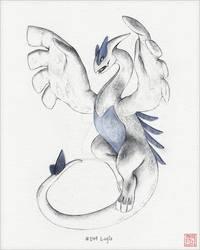 (Read Below) Hand-Drawn Lugia [Colored Ver.]