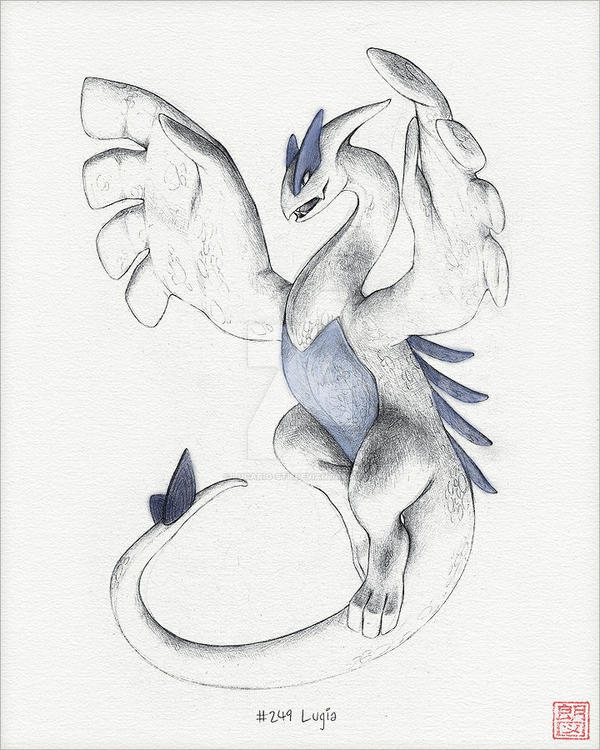 (Read Below) Hand-Drawn Lugia [Colored Ver.] by Lucario-Stl