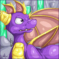 :Spyro the purple whelpling: by Kiuna-chan