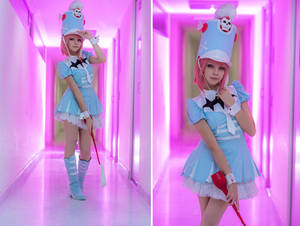 Pink Neon - Nonon Jakuzure Cosplay