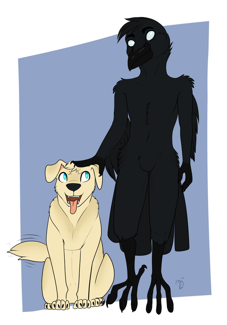 Blind crow and watch dog! by Lodidah