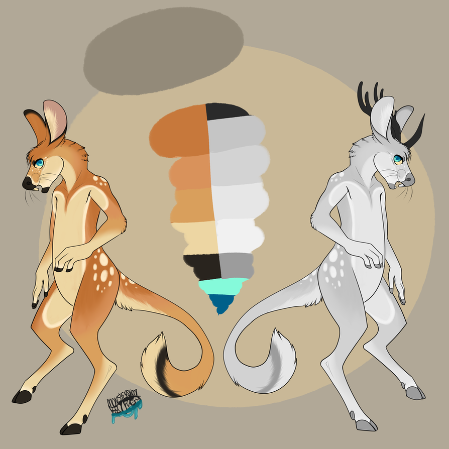 Deer/Jerboa auction! (OPEN!) by Lodidah