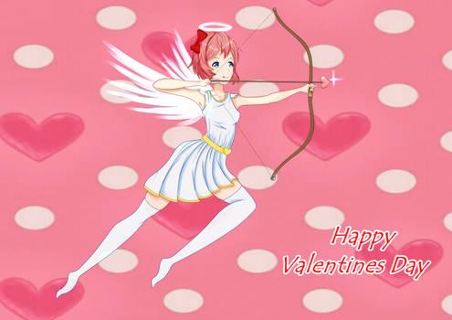Happy Valentines day (Ddlc fanarat + 100th art)