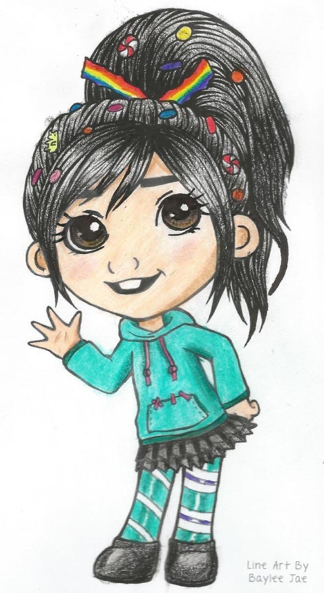 Line Art By Baylee Jae : Vanellope by baylee jae pwnyawesomeperson on deviantart