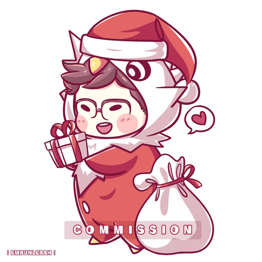 Chris Christmas Delibird ( Commission ) by EmbunLebah