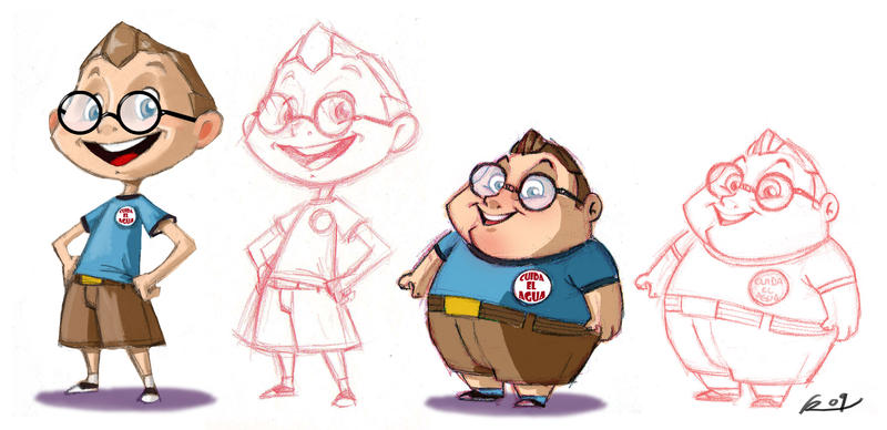 Best Cartoon Character Design : The fat and nerd by reevolver on deviantart