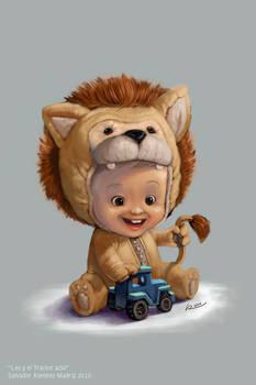 Leo y el tractor azul