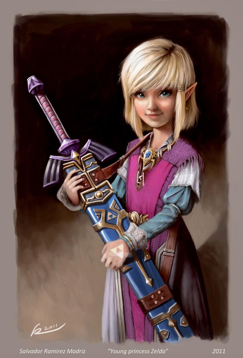 Young princess Zelda by ReevolveR