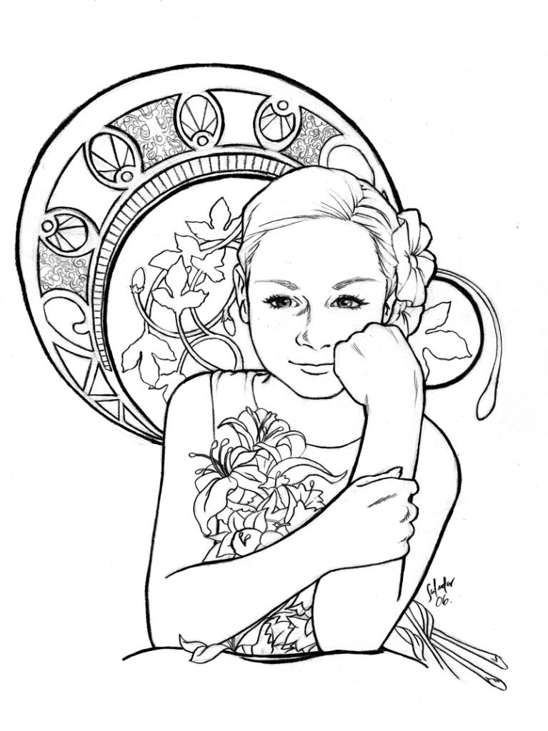 art nouveau coloring pages - photo#34