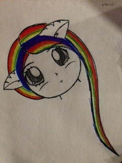 Rainbow cat girl by saphire577