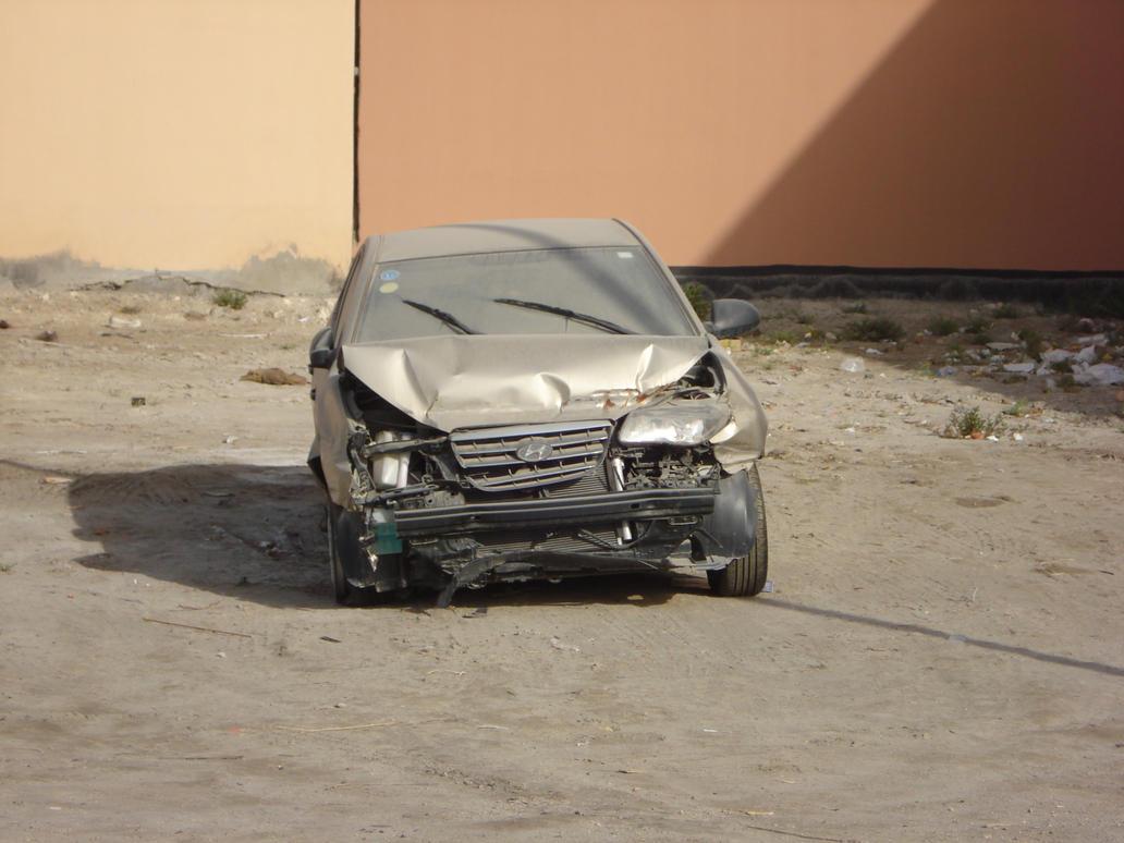 Broken car by Bluefairy-stock