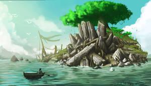 The island cave 02 by jjeeaann