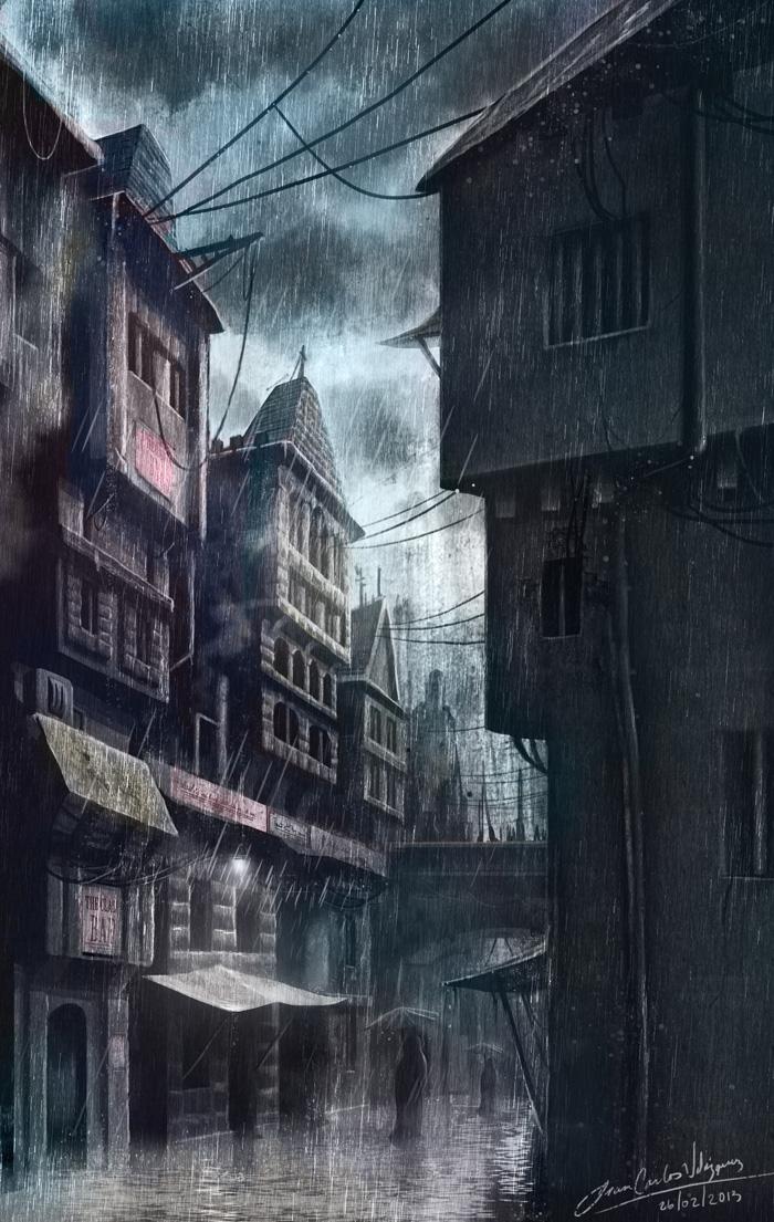 New Crobuzon alley by jjeeaann