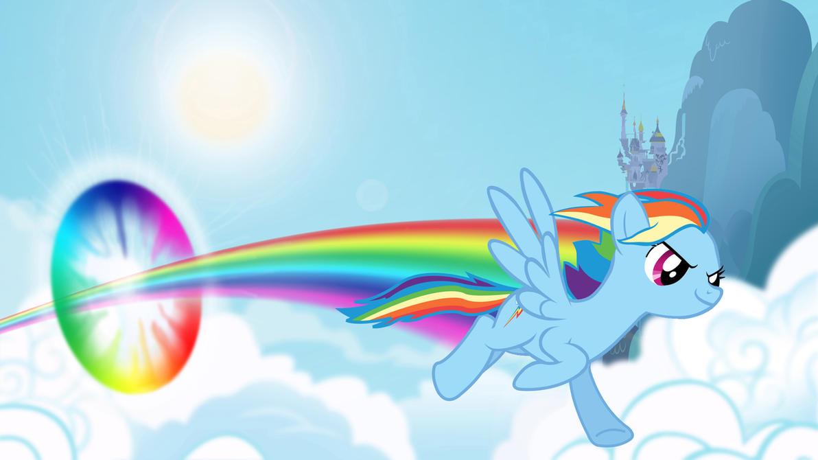 Sonic Rainboom On Equestria By DestinPony