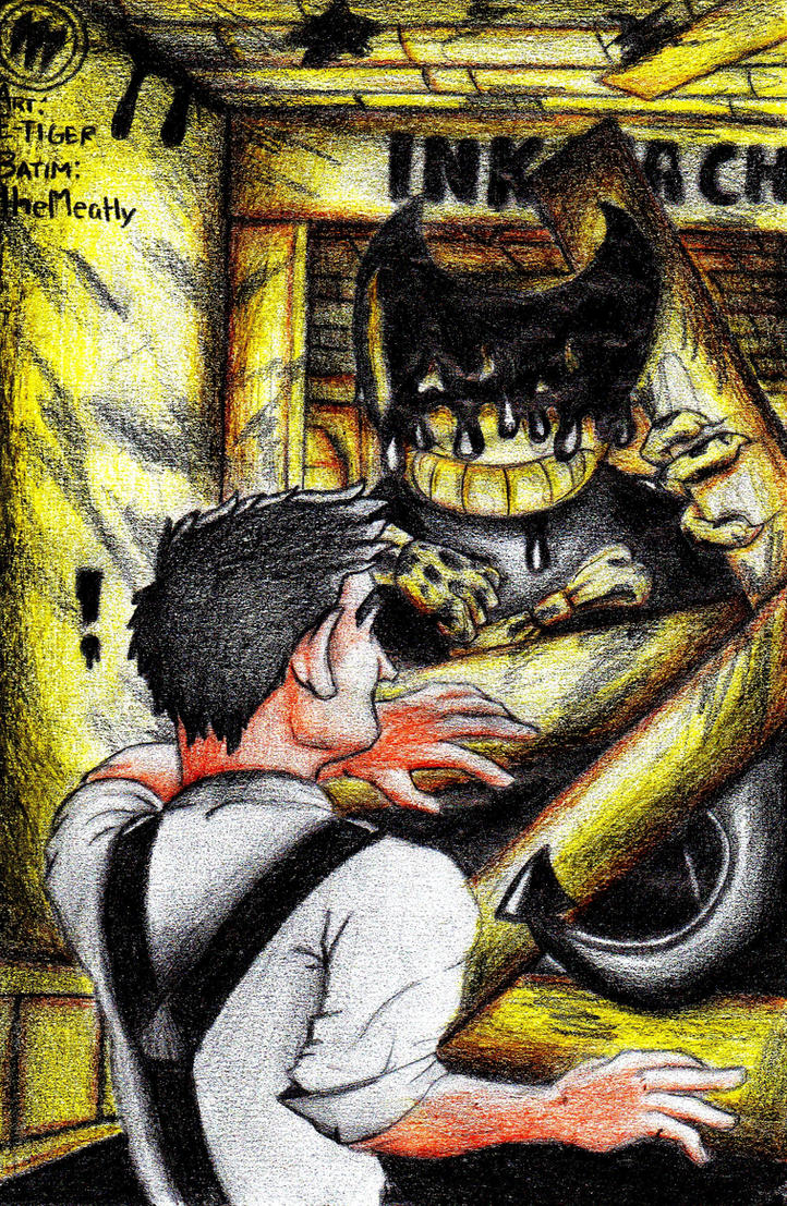 The First Encounter - BatIM 1st anniversary art by E-Tiger