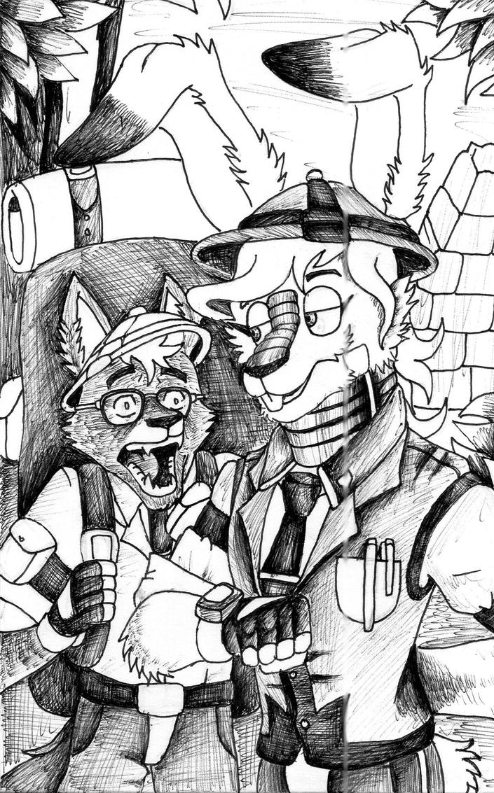 .:Inktober Day 12: Archaeologists:. by E-Tiger