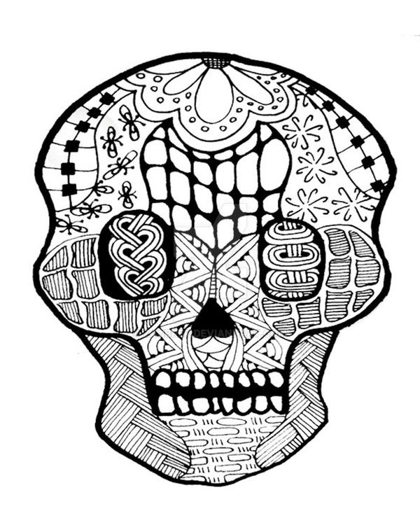Skull B W Patterns Free Download Oasis Dl Co