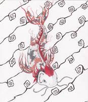 Dragon Koi by Art-in-Murder