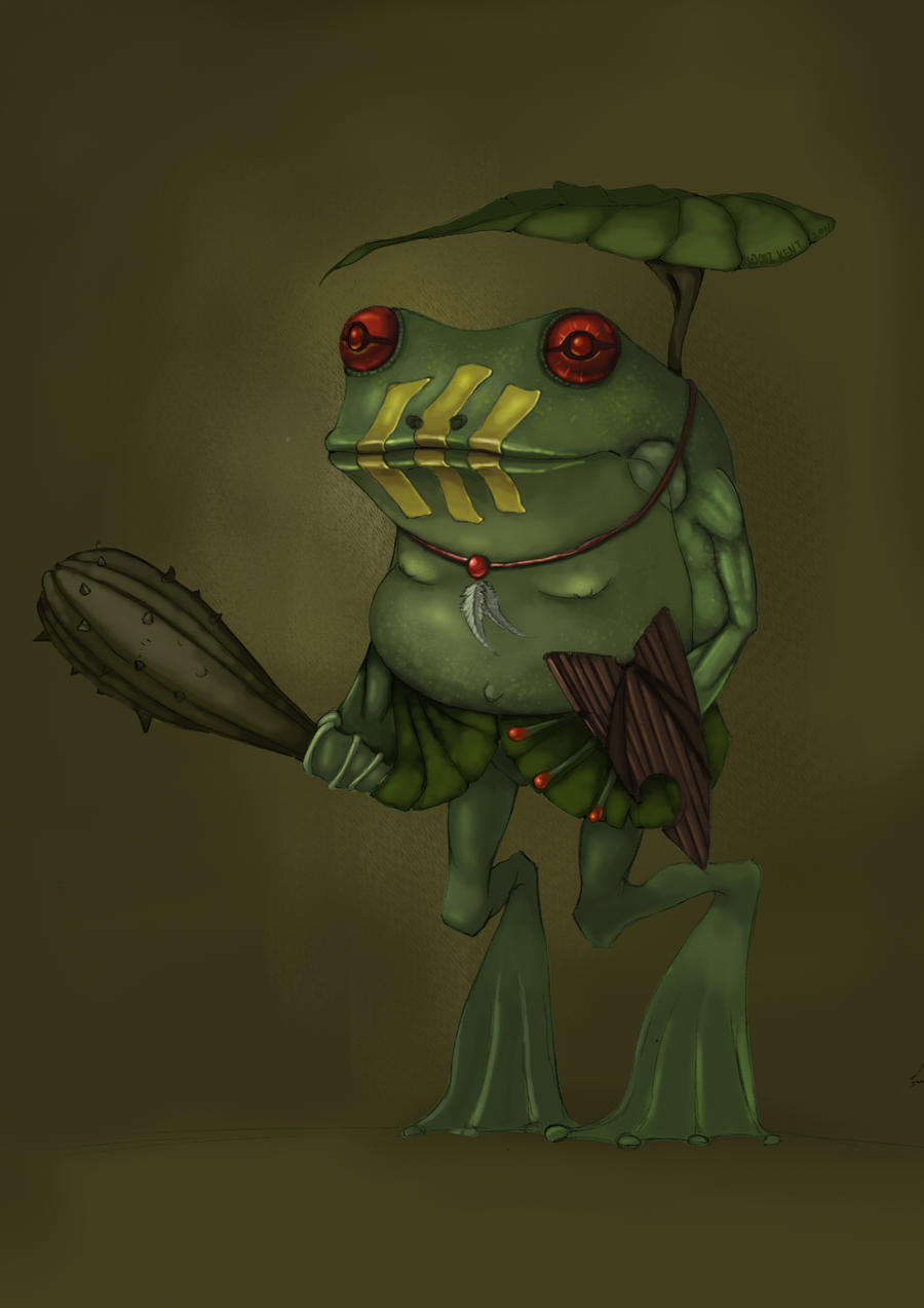 Darkness Creature-Frog Warrior by nwk01227