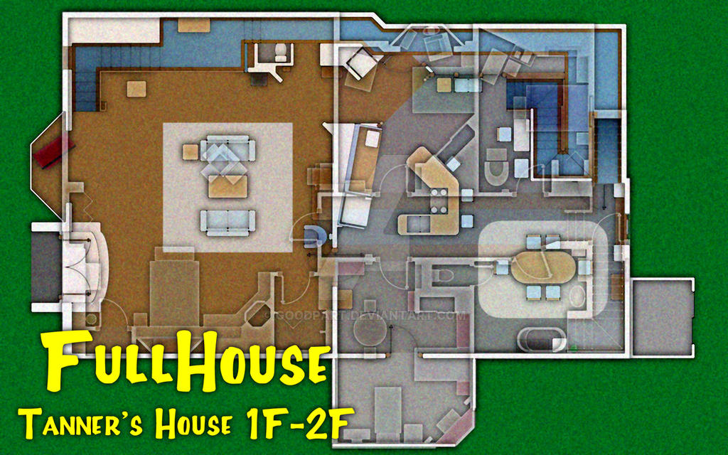 Full house tanner 39 s house plan 1f 2f by goodpart on for Full house house plan