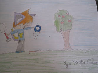 Look! I found a fossil! - Mira! Encontre un fosil! by Wilfre-colour
