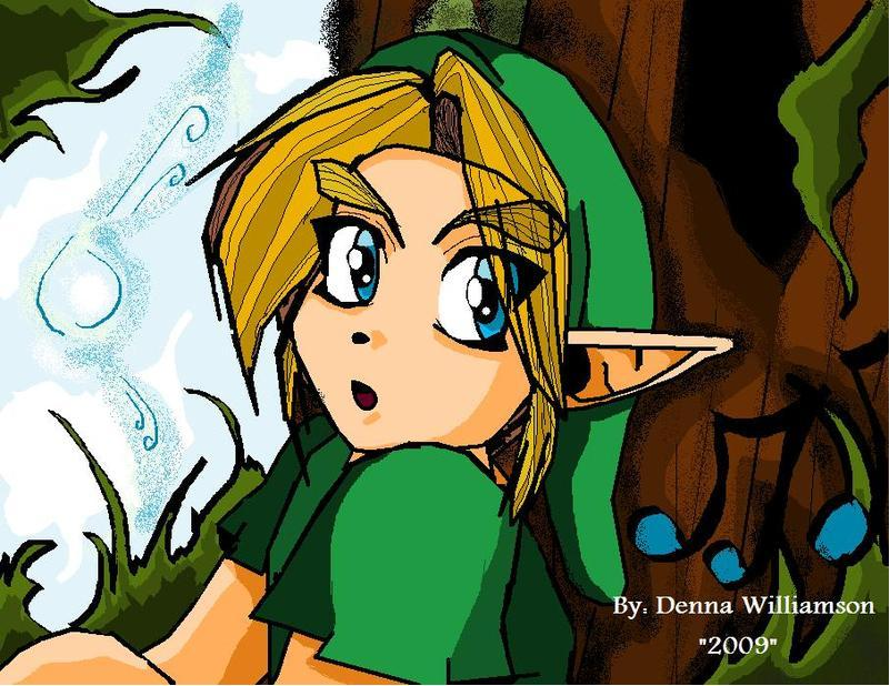 Link Drawn on paint by DennaWilliamson