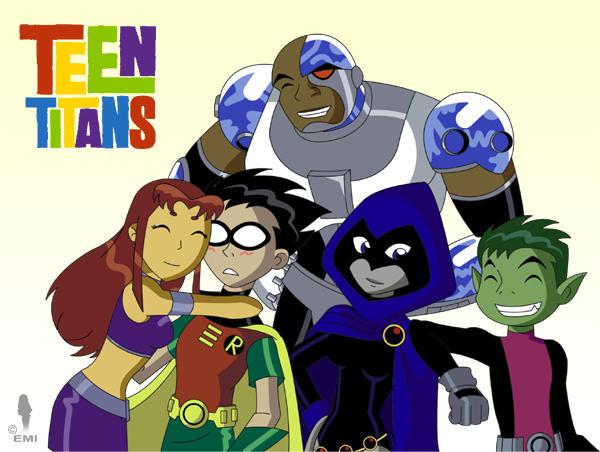 Teen Titans Group by WaterJewelEmi