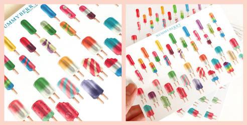 Popsicle Sticker Art Sheet by The-Gwyllion