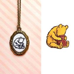 Pooh Bear Embroidery by The-Gwyllion