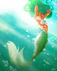 Patty O' Green Mermaid by The-Gwyllion