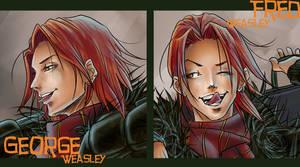 Weasley Twins- Closeup Version by The-Gwyllion