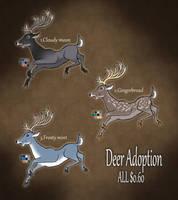 Deer adoptables CLOSED by RyuAmano