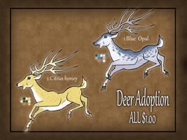 Deer adoptables 2 CLOSED by RyuAmano