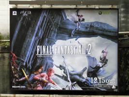 FFXIII-2 Advertisement signboard 2 by RyuAmano