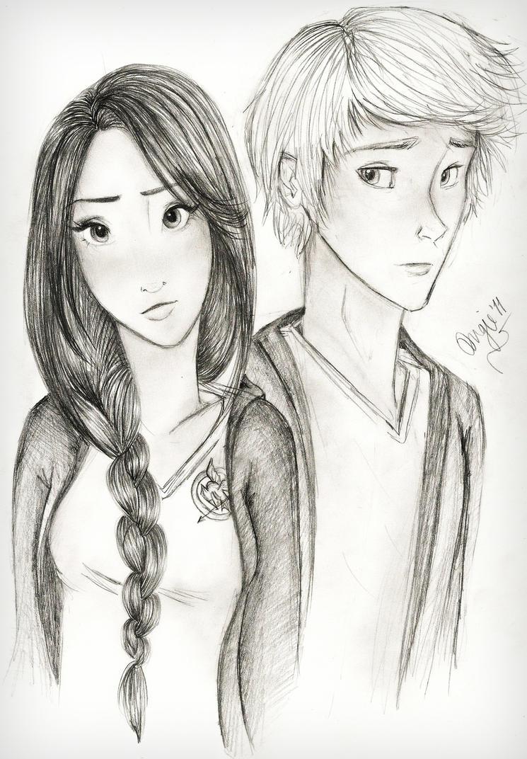 Hunger Games Peeta Drawing Katniss Everdee...