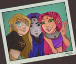 The Girls of Teen Titans