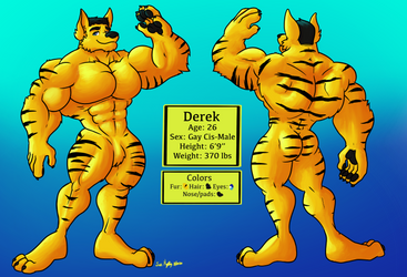 Derek Character Reference Sheet by x3l0natty