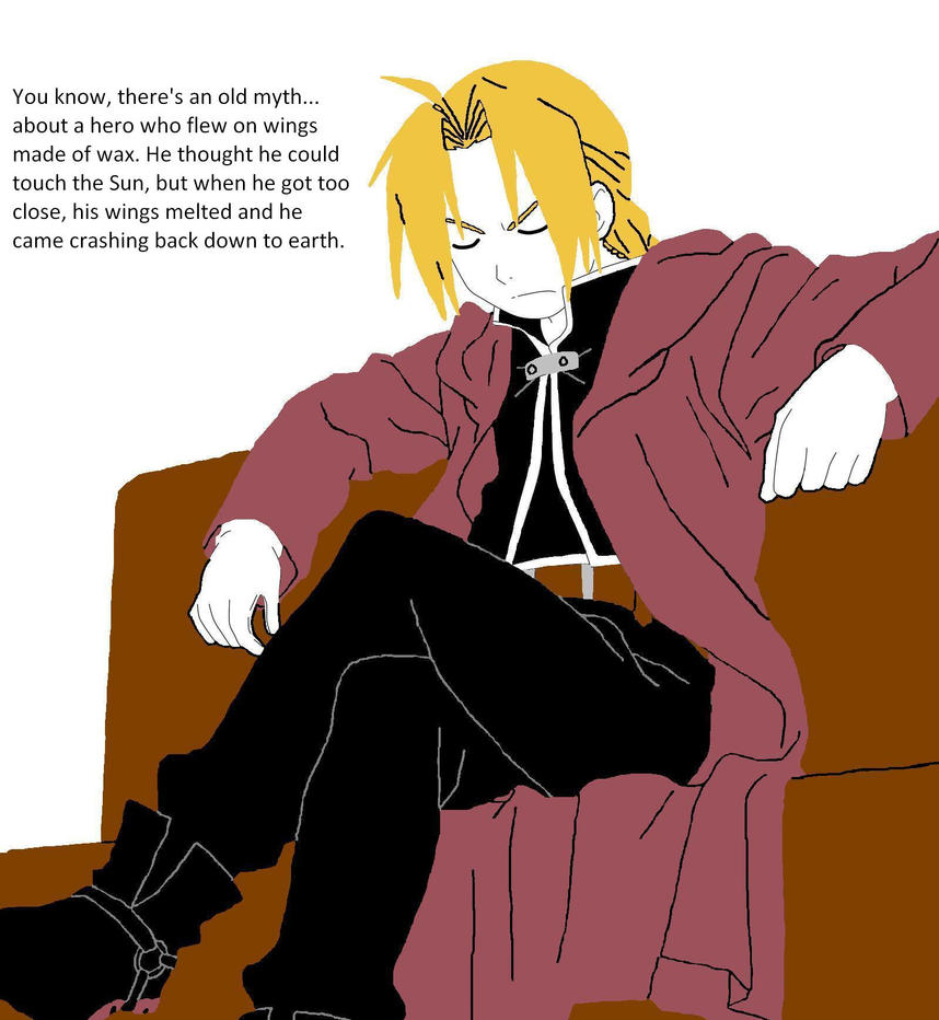 Edward Elric Brotherhood Hair Down Edward elric by frankie2411Edward Elric Brotherhood Older